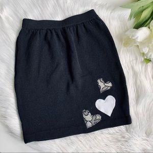 St. John Basics | Black Knit Skirt